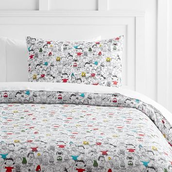 Peanuts® Friends Flannel Duvet Cover + Sham