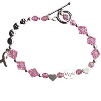 Swarovski Crystal Breast Cancer Bracelet