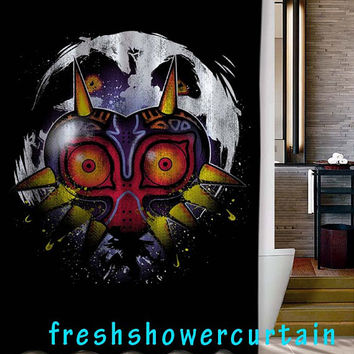 Mask of Majora Zelda Shower Curtain