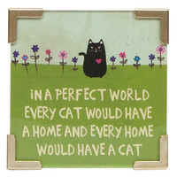 Corner Magnet Perfect World Cat by Nautral Life