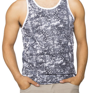 Guys Watercolour Bandana Print Tank