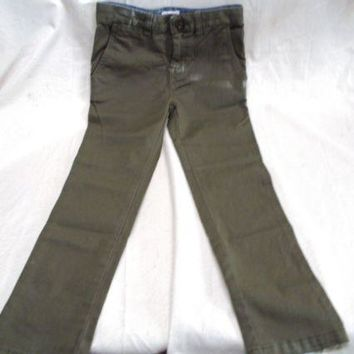 NWOT Cat & Jack Boy's Slim Fit Stretch Chino Pants Olive Green Size 5
