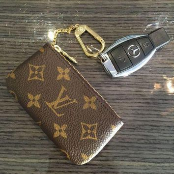 LV Louis Vuitton Trending Ladies Leather Tote Handbag Bag Shoulder Bag Wallet Clutch Bag Wristlet Set Two-Piece Key Pouch I