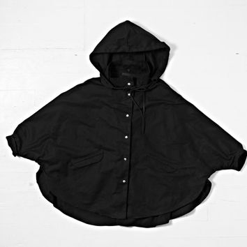 The Rain Parachute - waxed cotton rain jacket - one size