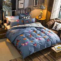 Butterfly Bedding Sets Queen King Double twin full Size Bedlinen 100%Polyester new Duvet Cover Set beautiful bed sheet girl gift