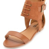 ZIP-BACK ANKLE STRAP SANDAL