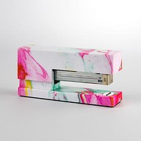 Marble Stapler in Pink