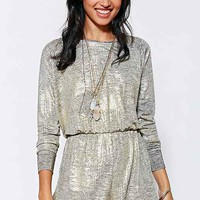 Pins And Needles Metallic Draya Romper-