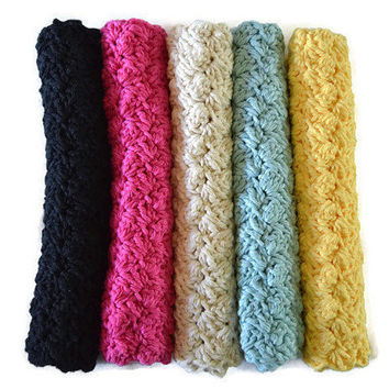1 FREE-Choose Colors Crochet Cotton Dish Cloth Home Gift Handamade Dishcloth Kitchen Towel Scrubbie Crocheted Hand Towel Dish Natural Rustic