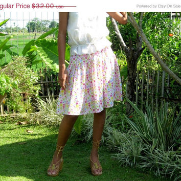 ON SALE Colorful Floral Skirt