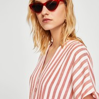 Striped cotton dress - Women | MANGO USA
