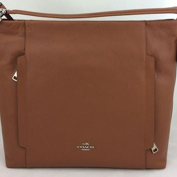 New Authentic Coach F34311 Large Scout Hobo Shoulder Bag Handbag Purse In Pebble Leath