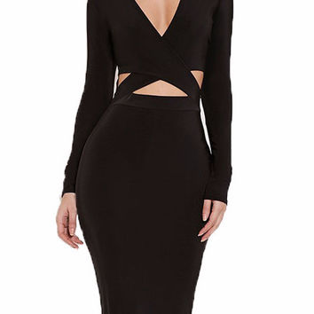 Marcianna Cutout Body Con Dress