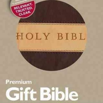 Holy Bible: New Living Translation, Dark Brown/Tan, Tutone, LeatherLike, Gift and Award