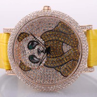 Cute Panda Diamond-studded Ladies Watch