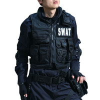 Outdoor swat tactical vest swat vest Give the magic stick Military protective equipment