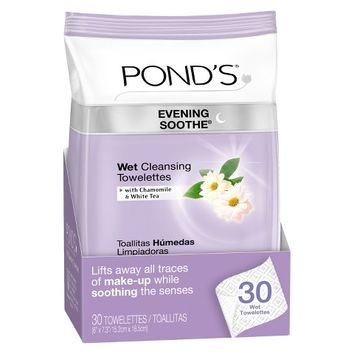 Pond's Evening Soothe Wet Cleansing Towelettes 30 ct