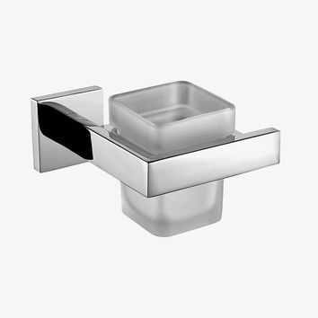 SUS 304 Stainless Steel Toothbrush Holder Single Frosted Cup Chrome Polished Bathroom Holder Polished Bathroom Products