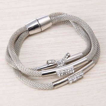 Abasi Layered Harp String Bracelet
