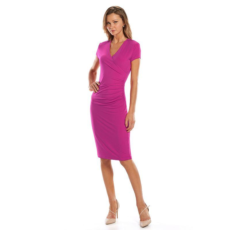 Apt 9 Ruched Faux Wrap Dress From Kohl S The Work Shop
