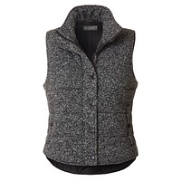 LE3NO Womens Lightweight Fully Lined Fitted Quilted Puffer Sleeveless Vest