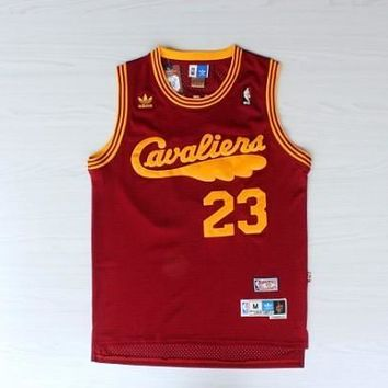 LeBron James 23 Cleveland Cavaliers Red Classic Throwback Swingman Jersey