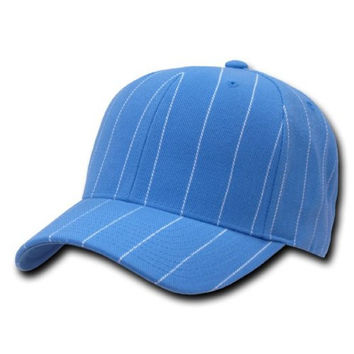Decky Pinstripe Baseball Adjustable Hat Cap, Sky