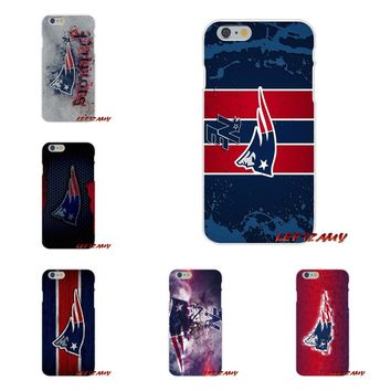 New England Patriots Logo Slim Silicone phone Case For Samsung Galaxy S3 S4 S5 MINI S6 S7 edge S8 S9 Plus Note 2 3 4 5 8