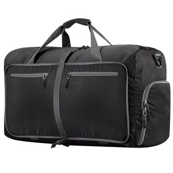 80L Large Travel Duffel Bag For Women & Men Foldable Duffle For Luggage Gym Sports Water Resistant Nylon