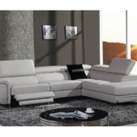 T35 Black Bonded Leather Sectional Sofa - Contemporary - Sectional Sofas - by Furniverse
