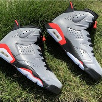 "Air Jordan 6 Retro AJ6 ""Reflective Bugs Bunny"" Basketball Shoes"