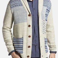 Men's Lucky Brand Patchwork Shawl Collar Cardigan,
