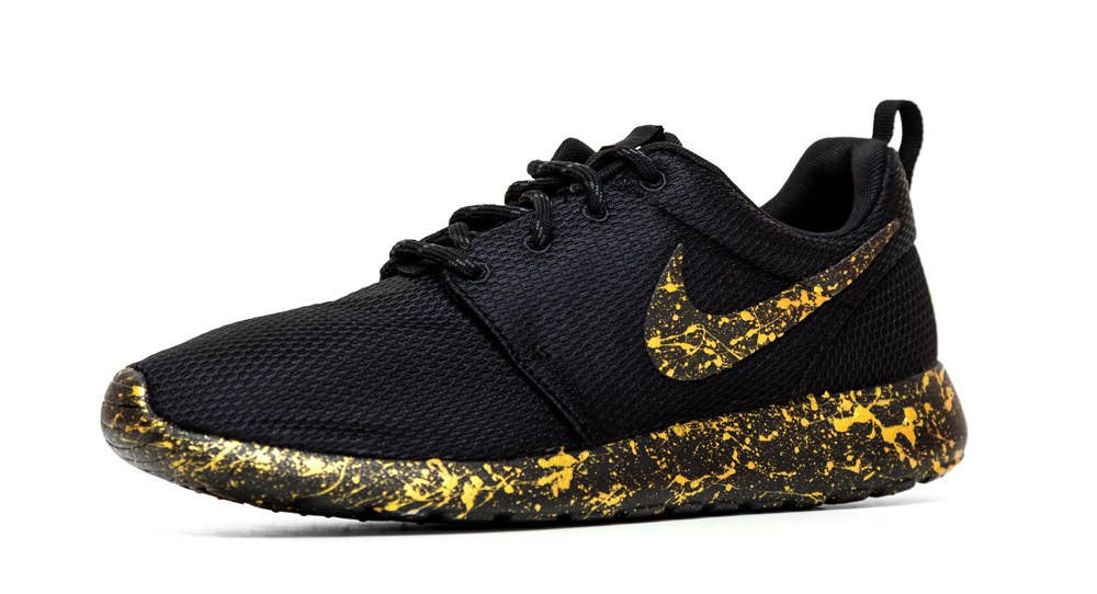 the best attitude a5f33 d9879 ... ebay nike roshe one gold paint color splatter 86a53 26ed3