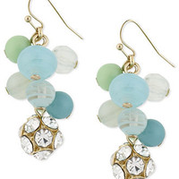 Haskell Earrings, Gold-Tone Multicolor Bead Cluster Linear Earrings - Fashion Jewelry - Jewelry & Watches - Macy's