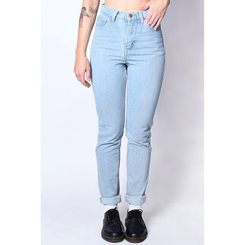 High Waist Mom Jeans - Light Wash