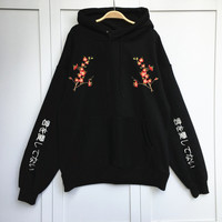 Korean Preppy Style Women Sweaters 2017 Newly Flower Embroidery Pullovers Casual Loose Thick Sweaters 64087