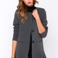 Glamorous Business Classic Grey Coat