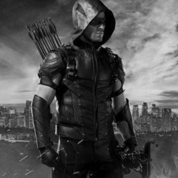 Arrow poster Metal Sign Wall Art 8in x 12in Black and White