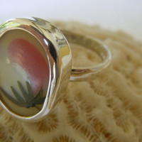 Broken China Ring Chaney Ring  Sterling Silver Ring  Pink Ring  Any Size 100% Handcrafted