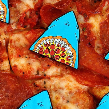 PIZZA JAWS @pizzaboyzzz Collab Enamel Pin - Limited Edition