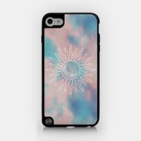 for iPod Touch Gen 5 - Sun - Doodle - Galaxy - Pink Clouds - Hipster