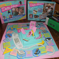 1980s Girl Talk Date Line Board Game by AlchemyCollectibles
