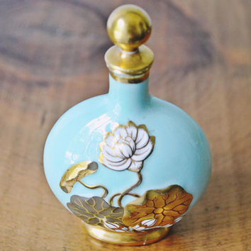 Antique Coalport Scent Bottle, 1800's Perfume Bottle, Early Coalport