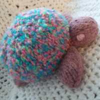 Knit Toy - Purple Sea Turtle - Girl Gift