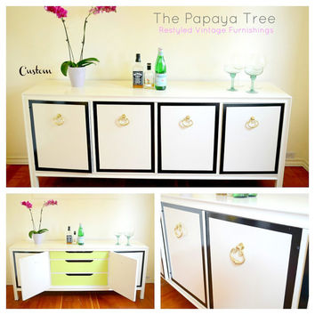 Custom Order Hollywood Regency Style Buffet Dresser