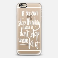 Can't Stop Don't Stop (white) iPhone 6 case by Glitter & Bold | Casetify