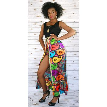 70's Vintage Psychedelic Paisley Dress Set
