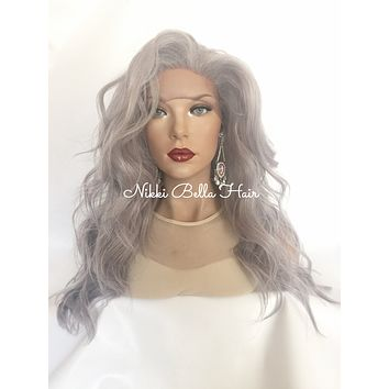 Silver Lace Front Wig 18 inches