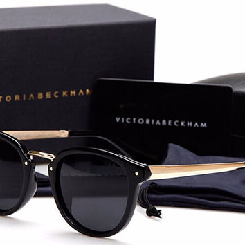 New vintage Luxury polarized sunglasses Mens women brand designer sun glasses Anti UV victoria beckham gafas de sol original box