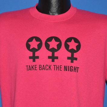 90s Take Back The Night Anti-Domestic Violence t-shirt Large